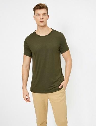 Koton Bisiklet Yaka T-Shirt Yeşil